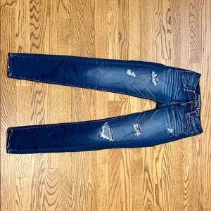 American Eagle distressed denim jeans size 0 blue